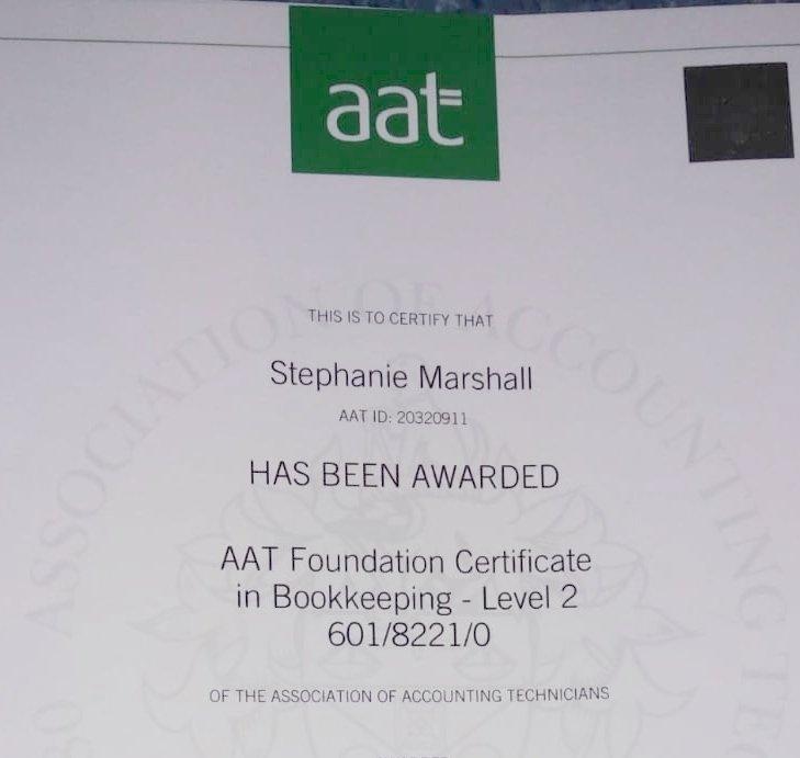 Steph's-AAT-Certificate-